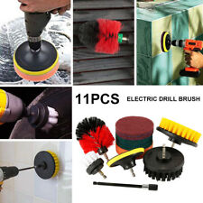 11Pcs Drill Brush Electric Attachment Set Power Scrubber Cleaning Scrub Cleaner
