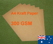 12 X A4 Kraft Paper Brown 300GSM All Wood Pulp Made