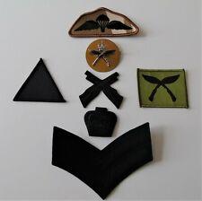 British Army Royal Gurkha Rifles Cap/Marksman Badges & Para Company TRF/Wings