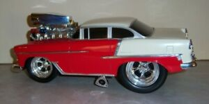 Muscle Machines - 1:18 - '55 Chevy Bel Air (White over Red) - LOOSE-NO BOX