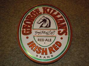 "KILLIAN'S IRISH RED ALE Beer Sign Plastic Bar Man Cave Vintage 3D 14"" X 17"" tin"