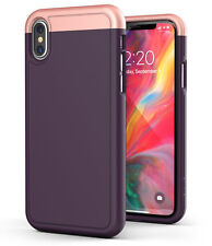 iPhone XS Max Slim Case Ultra Thin Protective Grip Cover (Slimshield) - Purple