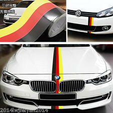 Auto Car Hood Body Modifield Decor Germany Flag Stripe Vinyl Sticker Emblem 59""
