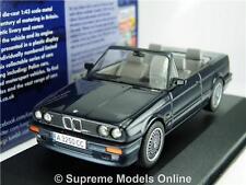 BMW E30 CAR MODEL 1:43 CORGI VANGUARDS VA13701C BLUE CONVERTIBLE + ROOF T34Z