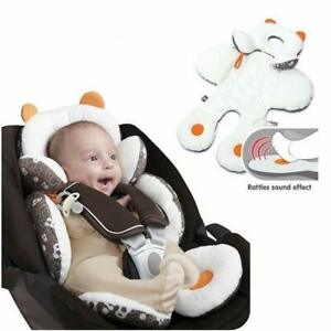 Baby Body Support 2-in-1 Reversible Stroller Pillow Insert with Organic Cotton