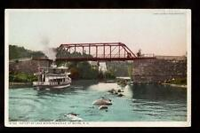 c.1907 steamer boat outlet lake winnipesaukee weirs new hampshire postcard