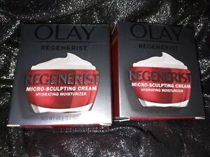 2 packs Olay Regenerist Micro-Sculpting Cream Hydrating 1.7 oz anti-aging NEE