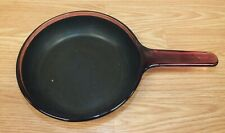"Genuine Vision Corning (5) Cranberry Glass Small 7"" (inch) Frying Pan **READ**"