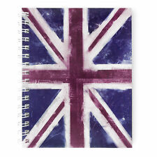 Monster Stationery - Flag A5 Lined Notebook - Made in UK - Union Jack