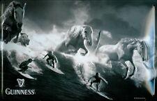 GUINNESS SURFER Vintage Metal Pub Sign | 3D Embossed Steel | Home Bar Irish