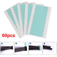 UK 60Pcs Double Sided Adhesive Super Tape For Tape in Hair Extensions Skin Weft