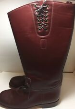 West Coast Motorcycle Leather Boots Custom Made Brown Men's US Size # 16