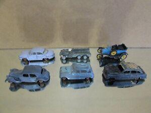 Lot 6 Voitures : Dinky Toys Vedette, 11BL, 4L, PL 17 - Corgi Modèle T, FJ Dodge