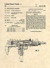 Official UZI Submachine Gun US Patent Art Print - Original Firearm Uziel Gal 496