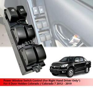 (RHD) Switch Power Window Control Fit For 4 Door Holden Colorado 2012 - 2019