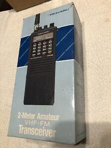Realistic HTX-202 Handheld VHF FM 2 Meter Transceiver. Antenna Missing