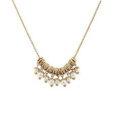 Fashion Crystal Pendant Statement Necklaces Chunky Pearl Women Cheap Bib Jewelry