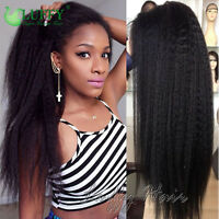 Kinky Straight Full Lace Human Hair Wigs Glueless 13×6 Lace Front Wigs For Women