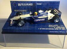 1:43 Minichamps Williams F1 BMW FW23 R. Schumacher 1st GP WIN  San Marino 2001