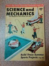 Old Vintage 1953 Science & Mechanics Magazine Chevrolet, build summer sports pro
