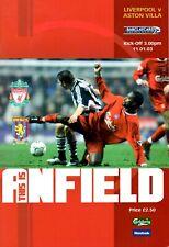 Liverpool v Aston Villa, Premier League, January 2003
