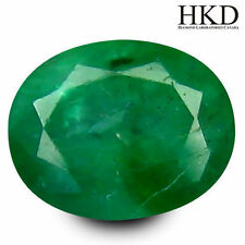 Excellent Cut Oval Loose Natural Emeralds