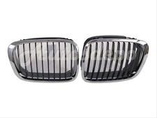 Bundle 1999-2001 BMW E46 323 325 328 330 Sdn Wgn Grille Chrome W/Blk Insert Set