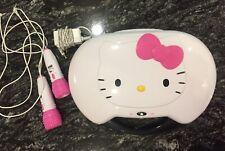 Hello Kitty Portable Karaoke Machine & CD Player Disco Lights + 2 Microphones