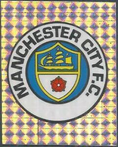 MERLIN-1994-PREMIER LEAGUE 94- #175-MANCHESTER CITY TEAM BADGE-SILVER FOIL