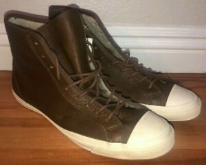 Converse Sherpa Lined High Leather Vintage Shoes Brown Mens Sz 7.5 NWT
