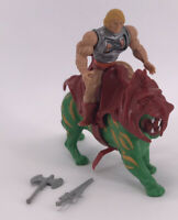 Vintage 1983 Masters of the Universe Complete Figure MOTU He-Man Battle Cat Toy