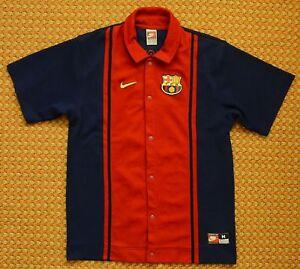 FC Barcelona, Vintage Warm-Up Training Shirt by Nike, Mens XL