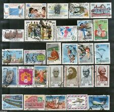 India 1986 Used Year Pack of 29 Stamps Ship Football UNICEF Wildlife Police Musi