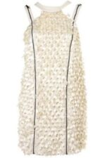 Topshop Unique SOLD OUT 3D Cream Dress With Zips And Cut Out Detail Size 8