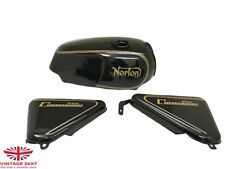 NORTON COMMANDO ROADSTER BLACK PAINTED 850 PETROL TANK + SIDE PANEL|Fit For