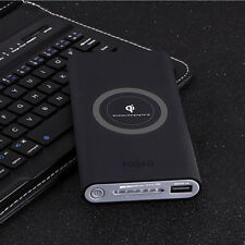 FDGAO Qi Wireless Charging 10000mAh Power Bank Portable Backup Battery Charger