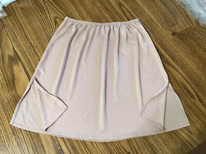 "Vassarette Satiny Beige Half Slip Size XS Polyester 22"" Long Style 11003"
