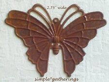 "BUTTERFLY Cutouts 12 pcs Rusty Tin 2.75"" Wide Primitive Rustic Garden Nature"