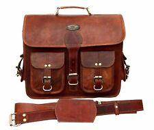 Messenger Bag Shoulder Laptop Briefcase Gift For Christmas Real Vintage Leather