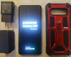 Samsung Galaxy S10 SM-G973U - 128GB - Prism Blue (GSM Unlocked) (Single SIM)