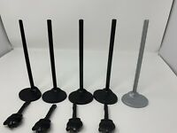 Lot Of 5 Monster High Doll Stands 4 Brushes. Stands Have No Hooks