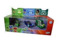 PJ MASKS 3 x Die Cast Vehicles Gekko Catboy & Romeo Car Set Toys BRAND NEW