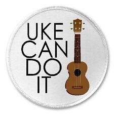 """Uke Can Do It - 3"""" Sew / Iron On Patch Ukulele Funny Joke Humor Music Gift"""