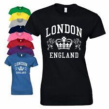 London England T Shirt Summer UK Novelty Souvenir Tourist Birthday Gift Ladies