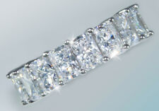 8.5 ct Briliant Radiant Eternity Ring Top CZ Imitation Moissanite Simulant SS 7