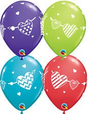 Party Supplies Birthday Love Wedding Banner Hearts Balloons Pk 10