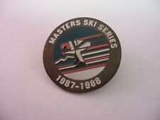 Great Vintage 1988 Brass MASTERS SKI SERIES Lapel Hat Pin Pinback