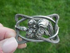 Fine Simons Brothers Art Nouveau Sterling Floral Pin