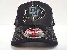 Colorado Buffaloes Cap Zephyr Snapback Staple Trucker Blackout Mesh Hat NCAA