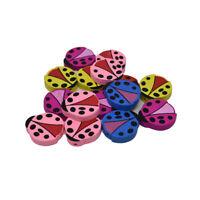 Craft Wood Ladybug Deco Beads, 1-7/8-Inch, 15-Piece
